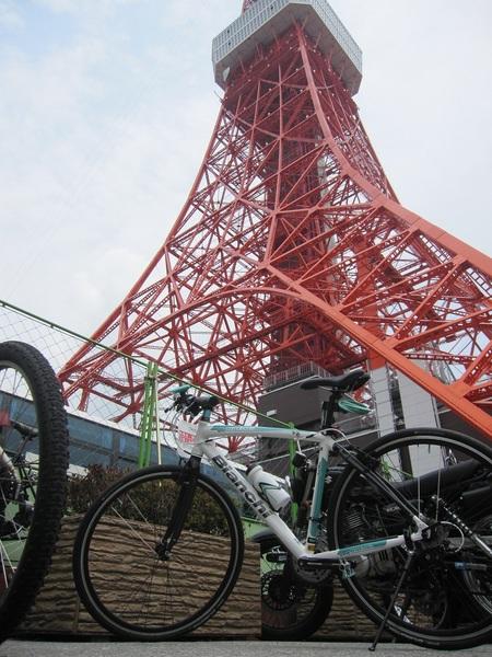 Bianchiで東京タワー.jpg
